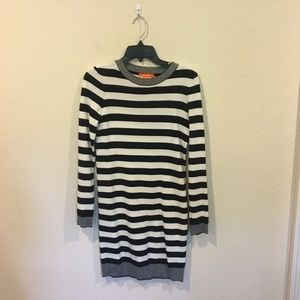 Joe Fresh black and white striped sweater dress